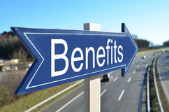 BENEFITS arrow royalty free stock images
