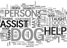 Benefits Of Assist Dogs Word Cloud Stock Photography