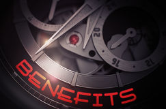 Benefits on the Automatic Men Wrist Watch Mechanism. 3D. Stock Images
