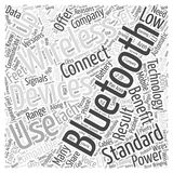 Benefits Of Bluetooth word cloud concept Stock Photos