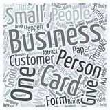 Benefits Of The Business Cards word cloud concept vector background Royalty Free Stock Photo