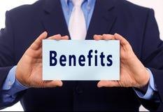 Benefits royalty free stock image