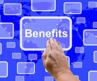 Benefits Button Showing Bonus Or Perks As Company奖 库存例证