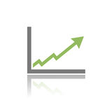 Benefits chart icon Stock Photo
