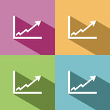Benefits chart icon Royalty Free Stock Photo