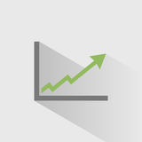 Benefits chart icon Royalty Free Stock Image
