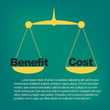 Benefits compared to costs Stock Image