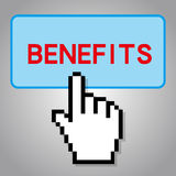 Benefits Concept. With gray background Royalty Free Stock Image
