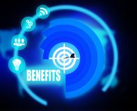Benefits concept plan graphic. 2018 Royalty Free Stock Photo