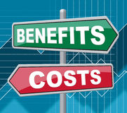Benefits Costs Signs Represent Expenses And Compensation Stock Photography