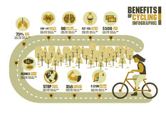 The benefits of cycling, earth tone around the street Stock Photo