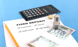 Benefits of Fixed Deposit Concept Stock Photography