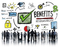 Benefits Gain Profit Earning Income Business Communication Conce Royalty Free Stock Images