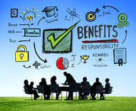 Benefits Gain Profit Earning Income Business Meeting Concept.  Stock Photography