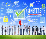 Benefits Gain Profit Earning Income Communication Concept. Benefits Gain Profit Earning Income Business Communication Concept Royalty Free Stock Image