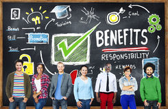 Benefits Gain Profit Earning Income Education Learning Concept Stock Image