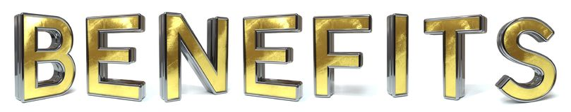 Free Benefits Golden Text Stock Photos - 118930083