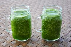 Green Smoothie: Healthy Green Smoothie. HEalthy drinks and healthy lifestyle. The benefits of green smoothies are many and varied — they're easy to digest Stock Image