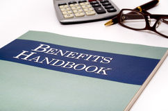 Benefits Handbook Stock Photo