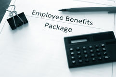 Benefits info Royalty Free Stock Photography