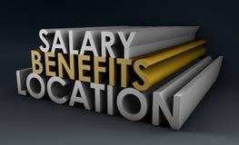 benefits jobb Arkivbilder