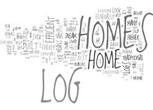 Benefits Of Log Homes Word Cloud Royalty Free Stock Photos