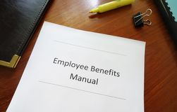 Benefits manual Royalty Free Stock Images