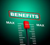 Benefits Max Shows Upper Limit And Utmost Royalty Free Stock Photography