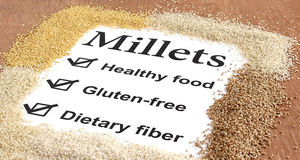 Benefits of Millets Stock Photography