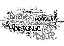 Benefits Of Mortgage Refinance Word Cloud Stock Photos