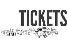 Benefits Of Online Event Tickets Word Cloud Stock Image