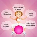 Benefits of pilates Royalty Free Stock Photos