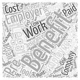 Benefits of Prepaid Plans for Your Company 173 word cloud concept vector background. Text Stock Photos