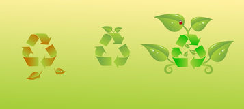 Benefits of recycling Stock Images