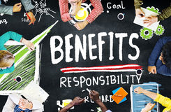 Benefits Responsibility Rewards Goal Skill Satisfaction Concept Stock Photos