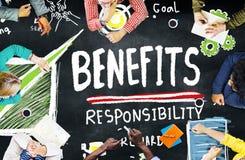 Benefits Responsibility Rewards Goal Skill Satisfaction Concept Stock Photos
