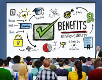 Benefits Responsibility Rewards Goal Skill Satisfaction Concept.  Royalty Free Stock Photography