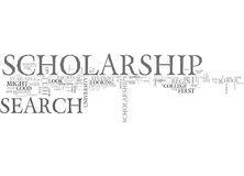 Benefits Of Scholarship Search Word Cloud Stock Images