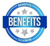 Benefits seal illustration design Royalty Free Stock Image