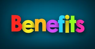 Benefits Sign Royalty Free Stock Photos
