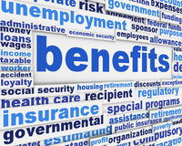 Benefits social support message. Financial support creative poster design stock image