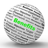 Benefits Sphere Definition Means Advantages Or Royalty Free Stock Image