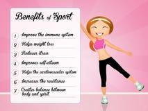 Benefits of sport Stock Photo