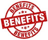 Benefits stamp. Benefits grunge stamp on white background Stock Image