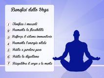 Benefits of yoga Royalty Free Stock Photography