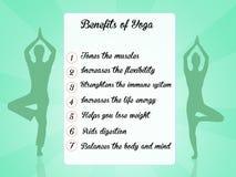 Benefits of yoga Royalty Free Stock Image
