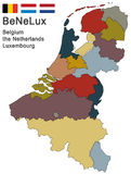 BeNeLux countries Royalty Free Stock Image
