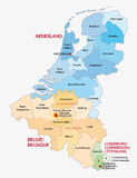 Benelux map Royalty Free Stock Image