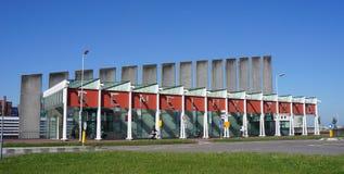 Beneluxtunnel入口在鹿特丹,荷兰 免版税库存图片