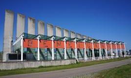 Beneluxtunnelingang in Rotterdam, Nederland Royalty-vrije Stock Fotografie